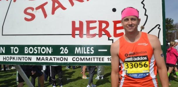 Wolcott at marathon start