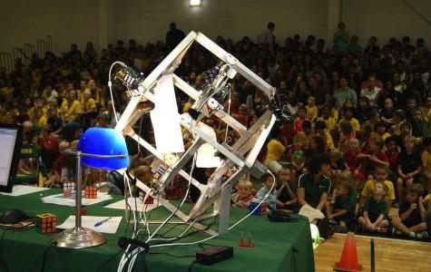 Senior Zack Gromko's robot solves Rubik's Cube; breaks Guinness World Record