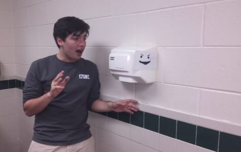Not so handy dryers in upper school men's room