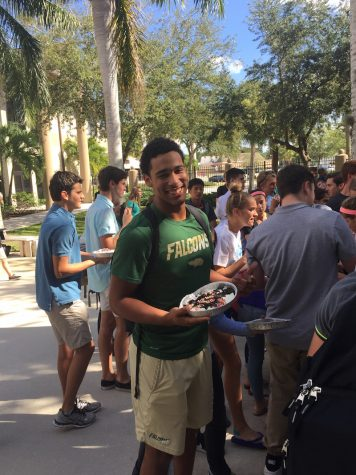 Student council pie party is big hit
