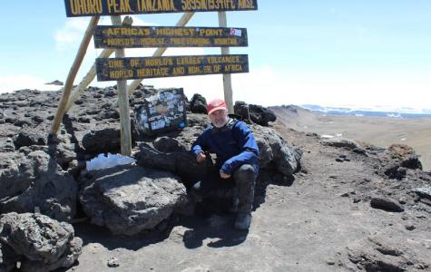 Revard hikes Mount Kilimanjaro