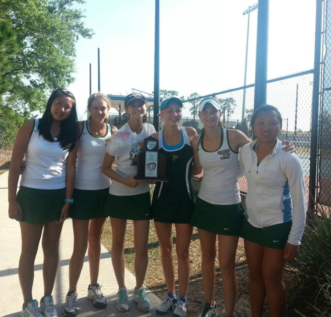 Falcons crush the competition at tennis districts
