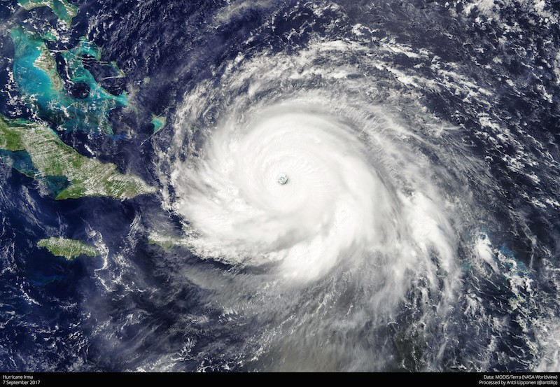 Irma hits home.  All you need to know about the super-storm