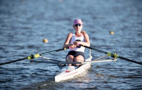 Senior Caitlin Lynch competes in the 2017 world rowing championship