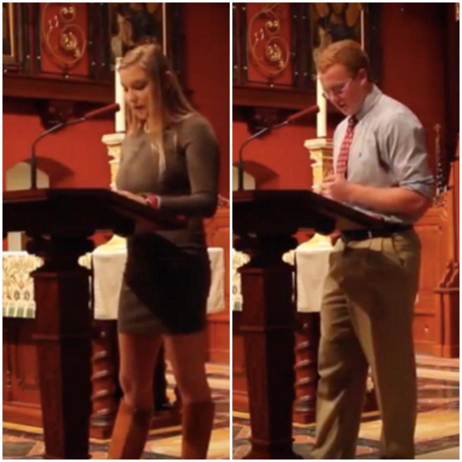 Senior Speech Series: Trevor Mulqueen and Sydney Ashley