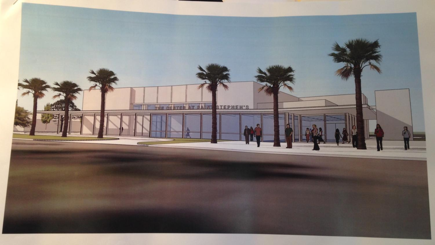 This picture gives us an idea of what the new performing arts center will look like.