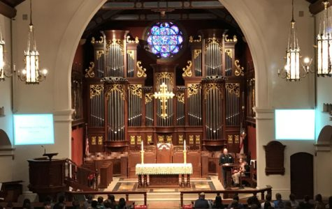 Who's behind the organ during chapels?  The mystery, revealed.