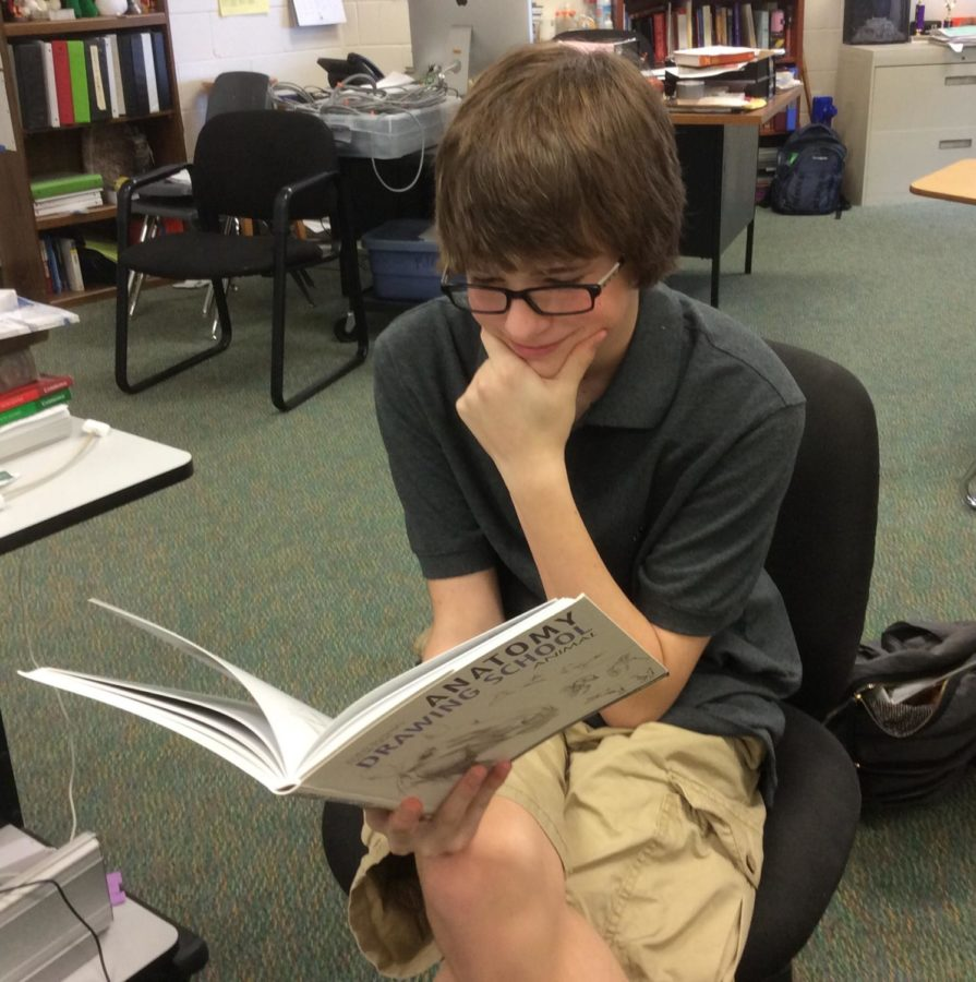Sophomore Paul Williams enjoys a good book.