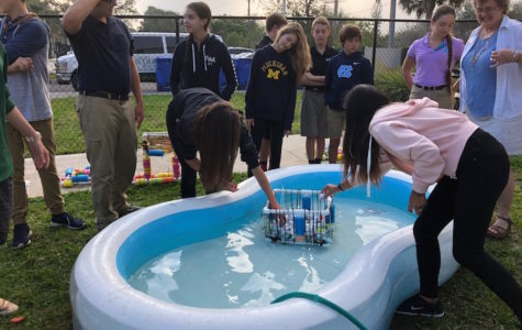 Photo of the Day: Middle school science builds load-bearing rafts, tests them