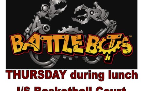 Lunchtime entertainment: robot battle and musical performance