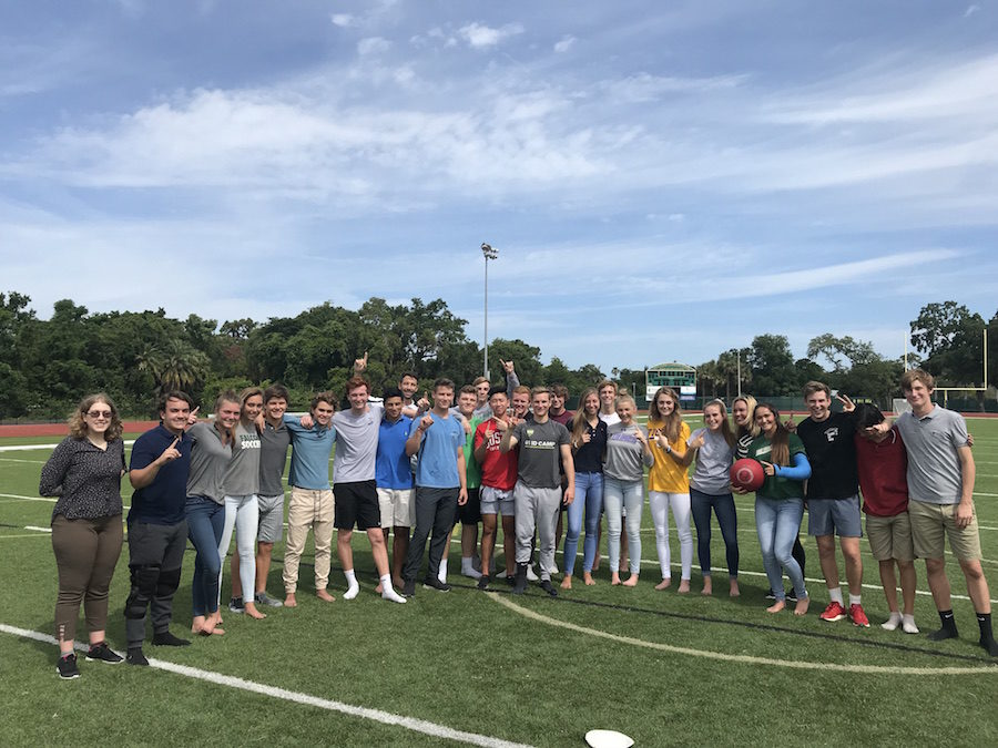 Photo of the Day: Yearbook vs Journalism kickball game