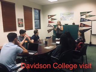 Photo of the Day: Davidson College visits