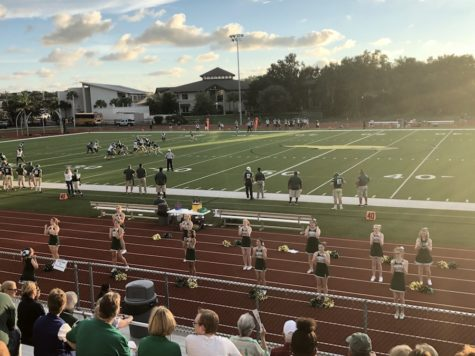 Cheerleading and football senior night, and the first play-off game