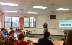 Mrs. Paleczny gives guidelines for a powerpoint project to her World History 1 class.