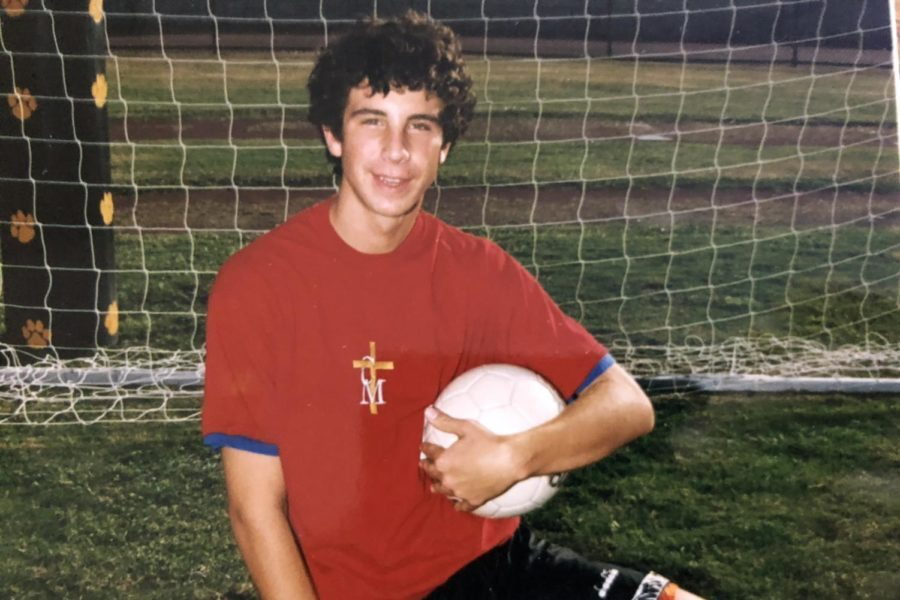 Mr. Hoonhout in his high school soccer picture.