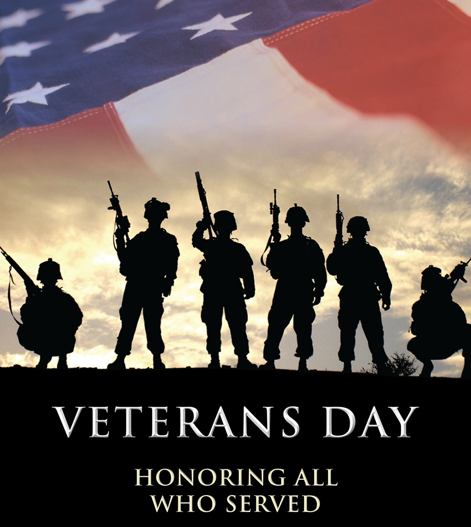 A Vetrans day poster to honer all the people who served in the armed forces.