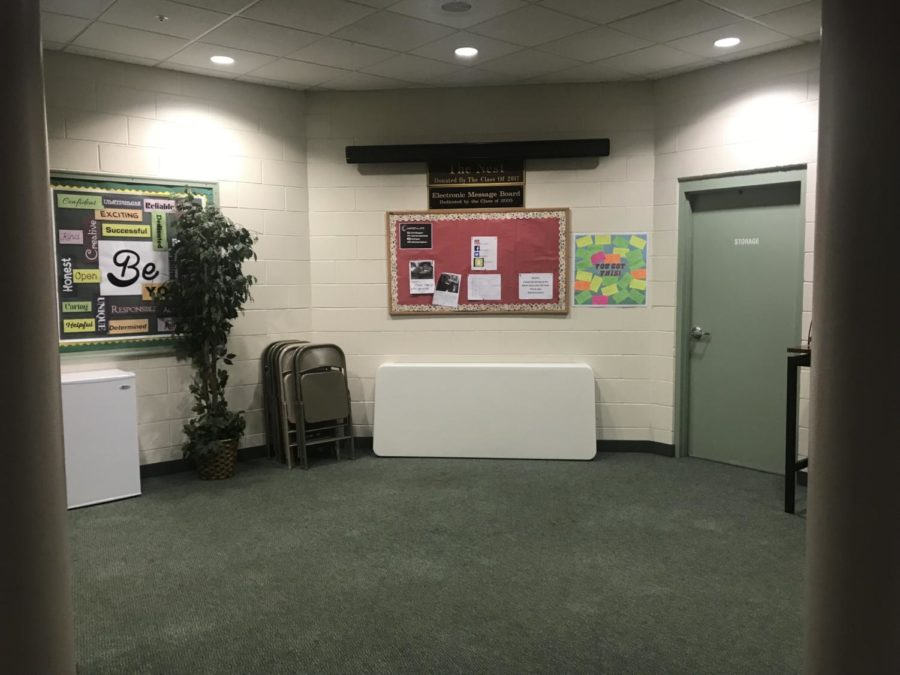 The Nest now sits empty in the Holmes building, right behind the front office.