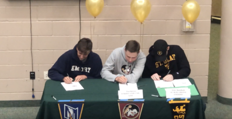 Video: Seniors sign college commitment letters during assembly