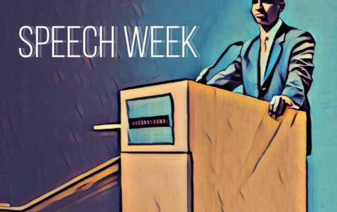 "All new ""Speech Week"" for underclassmen English classes"