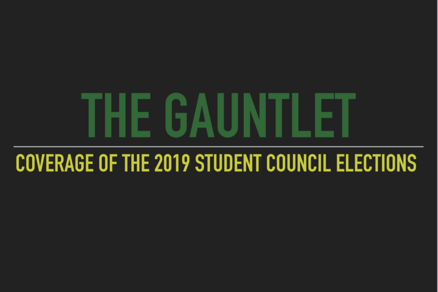 Election season is upon us.   Let The Gauntlet be your news source as the elections near.