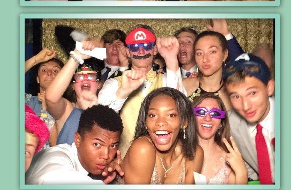 This prom shot gives you a glimpse of just what went down in the photo booth.