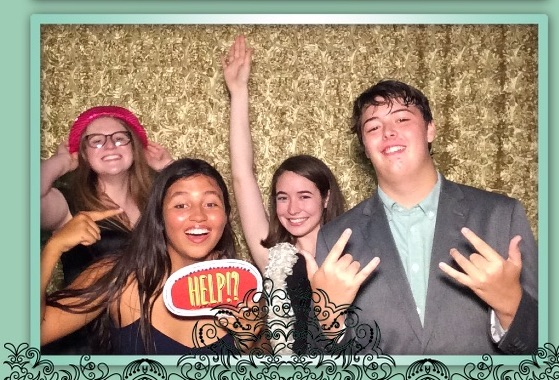 A telling photo of just what went down at this year's prom photo booth.