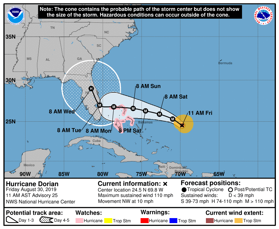 Hurricane+Dorian+predicted+path.+8%2F30%2F19