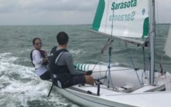 Senior JJ Smith out sailing the deep blue sea.  She also heads the Sailing Club here at Saint Stephen's.