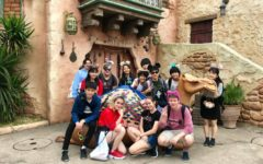 Saint Stephen's students in Tokyo at Disney Sea with Japanese students