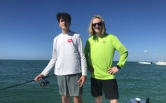 Sophomore Dillon Ogle took his Danish student out on a fishing trip in the gulf.