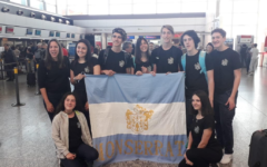 Eight Argentinian students and one teacher prepare to fly to Bradenton, Fl.