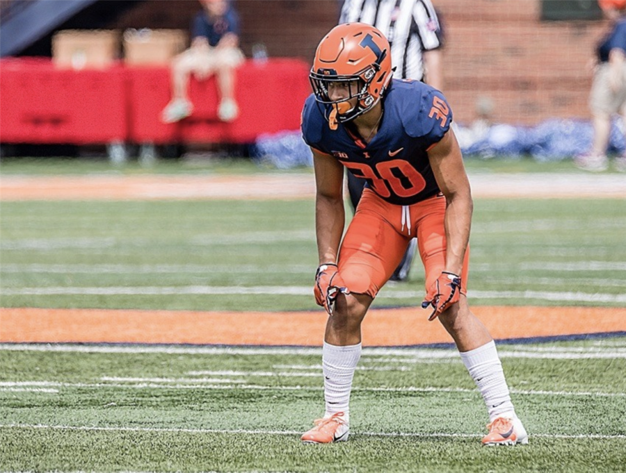 Brown lined up as a defensive back for the Fighting Illini.