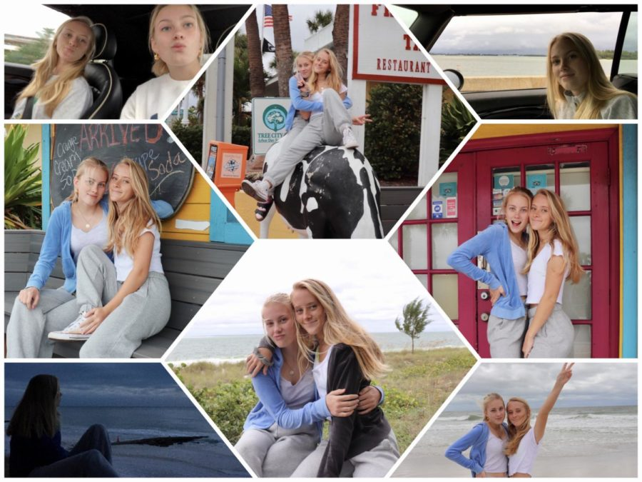 This image features multiple pictures of me and Mathilde throughout the week of her visit.