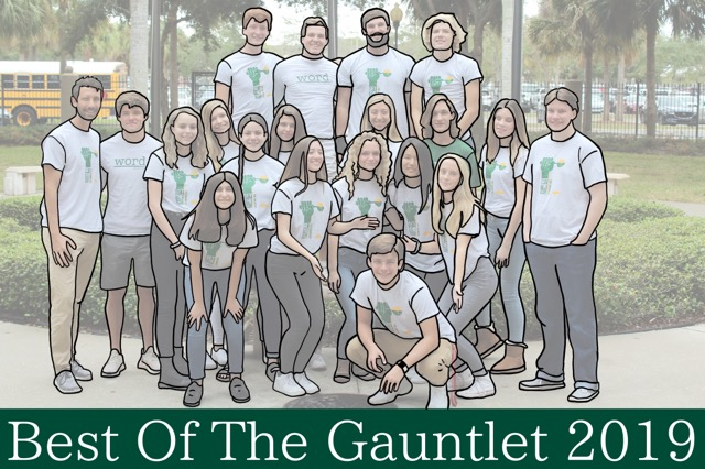 The Gauntlet staff in the 2019-2020 school year.