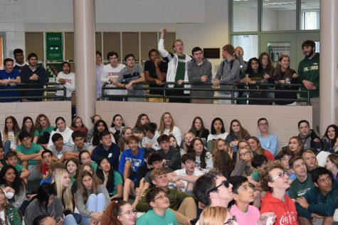 Students gather in the Commons for a spirit event during assembly. Losing these moments of interaction during social distancing could serve as a reminder of their value once they return.