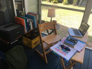 Which teacher does this remote learning space belong to?