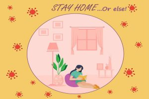 Being home and staying safe is important during this time but so is spreading positivity.
