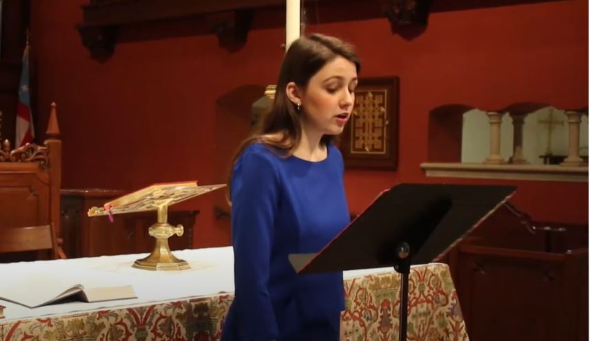 Senior Maria Erquiaga and Mr. Holt performed for Evensong 2020.