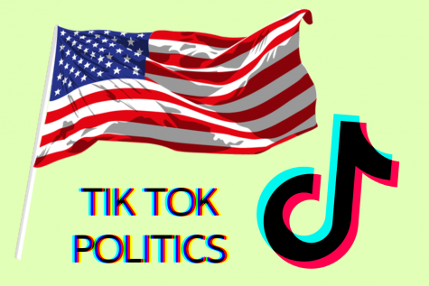 TikTok has become a platform where political content thrives. Is that really what needs to be happening, though? Original artwork by Evanthia Stirou.