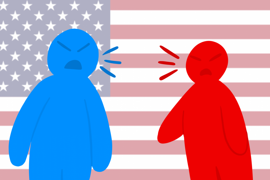 This image depicts the civil discourse between each political party.
