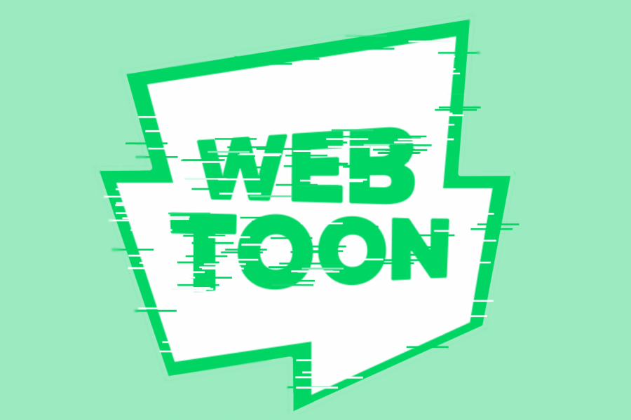 A stylized photo of the Webtoon app logo created by Evanthia Stirou