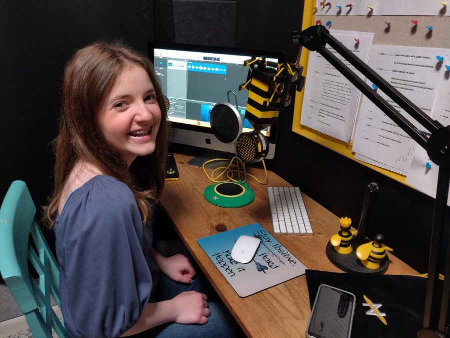 This image features Cassidy Millers at-home closet studio she uses for the recordings of her podcast.