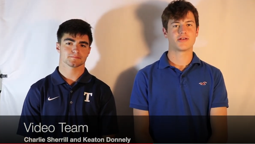 Keaton Donnelly and Charlie Sherrill represent The Gauntlet's video team.